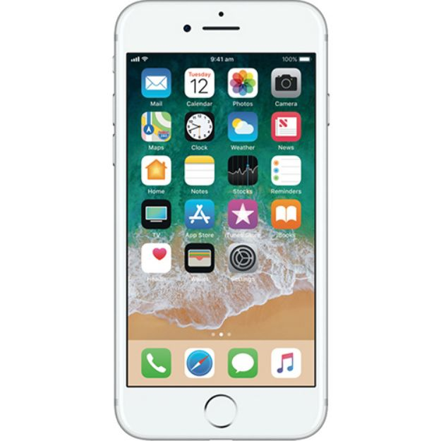 Picture of Apple iPhone 7 32GB - Silver - Unlocked - Refurbished Grade A