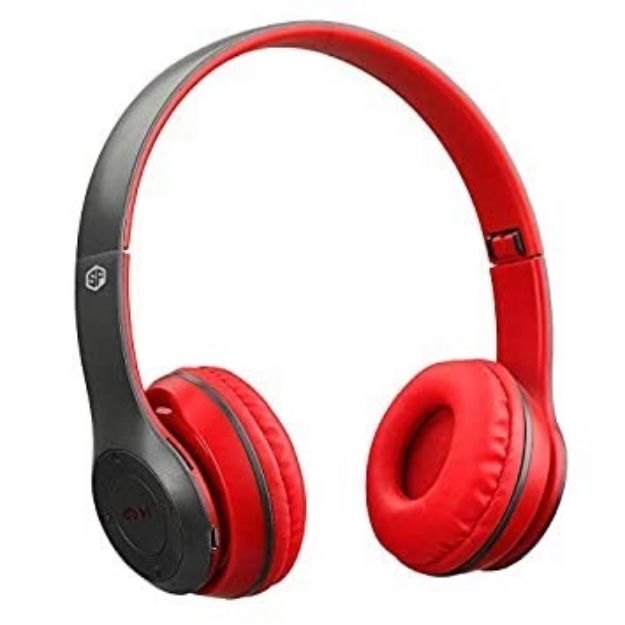 Picture of SH22 Folding Bluetooth V4.0 Wireless Headset Stereo Over Gaming Earphones | Black & Red