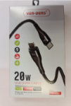 Picture of Ven Dens 20W SuperFast Charging USB-C to Lightning Cable   Black (VD-0317)