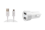 Picture of Dual Port 17Watt 3.4AMP USB Car Charger Adapter  | White