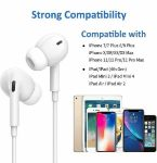Picture of Lightning Connector Wired Earpods Pro Earphones For Apple iPhone   White