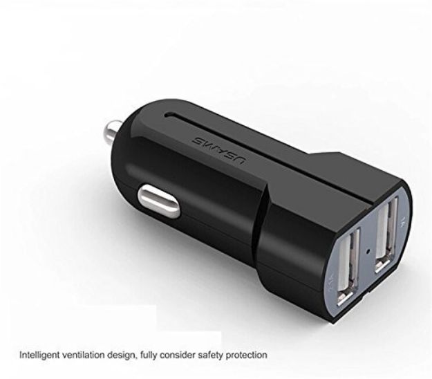 Picture of Dual Port USB Car Fast Charging Adapter With LCD Display