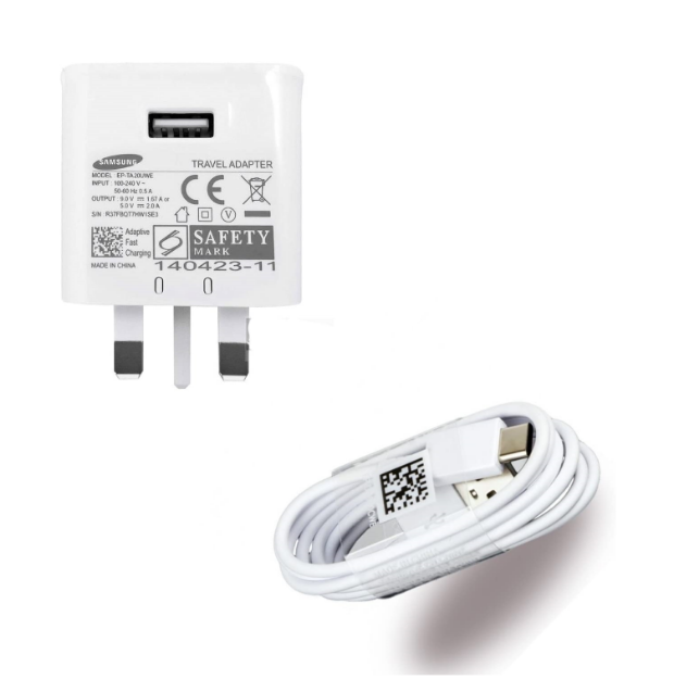Picture of Samsung Mains Plug Charger And Genuine Samsung Usb Type C Charge And Sync Cable For Samsung Galaxy A3 2017