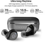 Picture of Alpha NC9 Wireless Earbuds Hybrid Active Noise Cancellation | IPX6 Waterproof Bluetooth 5.0 TWS Stereo Earphones