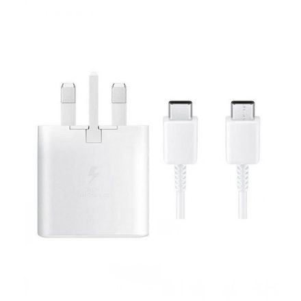 Picture of Official Samsung 25W Fast Charging USB-C Adapter With USB-C to USB-C Charging Cable