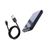 Picture of REMAX Mirror Series RPP-133 Wireless Charger Power Bank 10000mAh for Micro/Type-C/Lightning Phones - Black