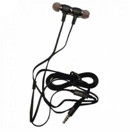 Picture of VD-E02 Wired Earphones with 3.5mm Jack Connector - In Ear Headphones Superbass | Black