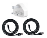 Picture of Alpha Fast Charging USB to Lightning Cable For Apple iPhone   Black